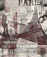 Vliestapete Paris Eifelturm bordeaux rot grau 2101 France Frankreich Stadt Motiv
