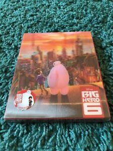 Big Hero 6 Nova Media 005 Lenticular Blu Ray Steelbook NC Disney NEW