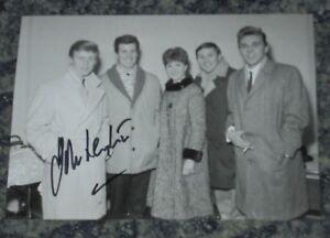 JOHN LEYTON -  SINGER - 5x7 PHOTO  SIGNED.  with Billy Fury & The Mudlarks 9