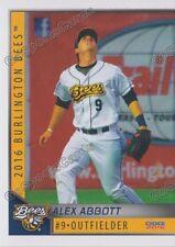 2016 Burlington Bees Alex Abbott RC Rookie Angels Minor