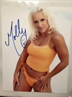 Molly Holly autographed PHOTO 8x10 LEAF Signed WCW WWE TNA #2