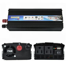 US 2000W/4000W Car Power Inverter Converter DC 12V To AC 110V USB Charger