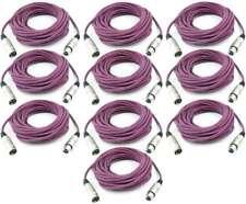 10 Stück 10 m Adam Hall Mikrofonkabel VIOLETT LILA 3 pol XLR DMX Mikrofon Kabel