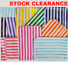 More details for candy stripe sweet bags 150 100 50 paper confectionery bag party favor stripey