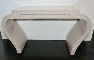 MCM Mid Century Modern Karl Springer Waterfall Lacquer Marble Desk Console
