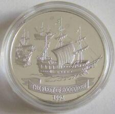 Samoa 10 Tala 1992 Schiffe Flotte von Jacob Roggeveen Silber
