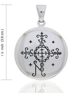 PAPA SIMBI-  voodoo veve for protection - sterling silver pendant by Peter Stone
