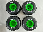 GRAVE DIGGER RC Monster Jam BKT Wheel Tire Front and Back - Set of 4 Nice cond.
