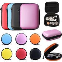 Unisex Mini Headset Storage Bag Gift Zipper Coin Purse Key Wallet Pouch Bag NEW