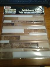 Lot of 5 Sheets Hardware Self Adhesive Tan, Brown and White Wall Tile,not Tile