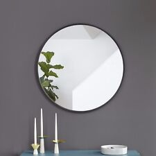 Umbra Hub, Large Round Wall Mirror with Modern Rubber Frame
