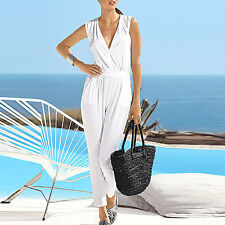EDEL WEIß Sommer Shirtstoff Jersey Jumpsuit Playsuit Overall Gr.36/38 WHITE