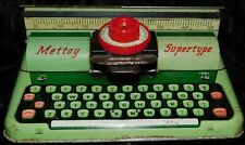 VINTAGE METTOY SUPERTYPE TIN TOY TYPEWRITER - VERY GOOD USED CONDITION