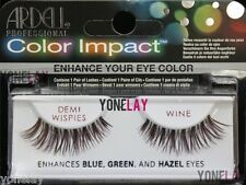10 Pairs ARDELL Color Impact Demi Wispies Wine False Eyelashes Wispy Fake Lahes