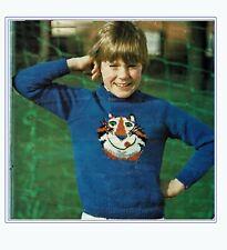 Children's Jumper, Knitting pattern sweater Chest Sizes  22, 24, 26, 28, 30 in