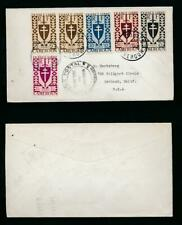 CAMEROON CAMEROUN 1945 FRANCE LIBRE MULTI FRANKING CENSORED to USA