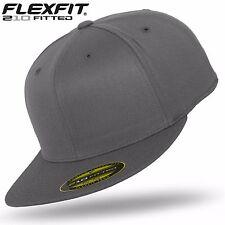 Original Flexfit 210 Premium Fitted Baseball Cap Baseball Cap Dark Grey