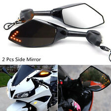 2pcs Motorcycle Rear View Side Mirror Turn Signal LED Indicator For Honda Suzuki