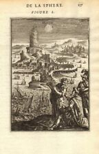 MERCURY. 'Mercure'. Planet. View in the night sky. Tower of Babel. MALLET 1683