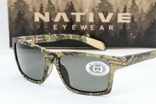 NEW NATIVE EYEWEAR FLATIRONS SUNGLASSES Realtree Camo Max / Polarized Grey lens
