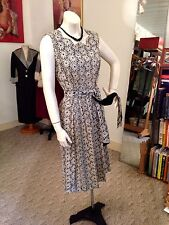 Fabulous 50's Cut Out See Through Floral Sun Dress/OH MY !!!!