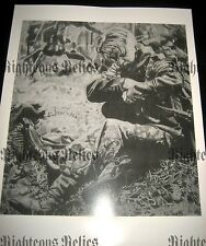 WWII MG 42 Elite German Gunner Fine Art Poster Print Drawing At Rest 1944-45 WW2