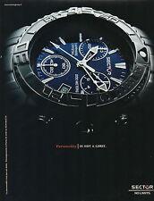 Publicité Advertising 2003  Montre SECTOR