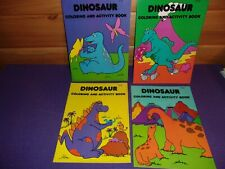 4 Dinosaur Coloring & Activity Books 1999 Rare Warehouse Find Made In U.S.A.