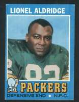 1971 Topps #28 Lionel Aldridge VG/VGEX RC Rookie Packers 65984