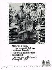 PUBLICITE ADVERTISING 114  1966  BURBERRYS  jupe-culotte veste MOOSE pour chasse