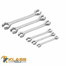 Double-End Metric Flare Nut Wrench Set of 6 wrenches (12 Sizes: 6 mm to 24 mm)
