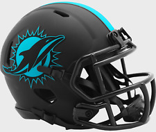 MIAMI DOLPHINS NFL Riddell SPEED Mini Football Helmet BLACK ECLIPSE
