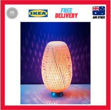 IKEA Böja Table Lamp Nickel-plated Rattan 601.561.59