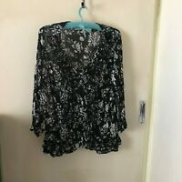 Suzannegrae Black and White Top Size 14 Womens