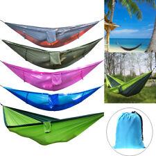Outdoor Garden Camping Tent Hanging Hammock Sleeping Bed Swing& Mosquito Net lot
