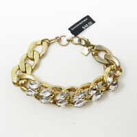 BANANA REPUBLIC CHAIN STONE BRACELET MATTE GOLD WITH STONE