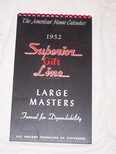 "1952-""SUPERIOR GIFT CALENDARS"" SALESMAN SAMPLES GIFT LINE SALES BOOK"