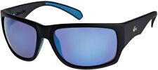 Quiksilver Landscape Sunglasses in Matte Black/Flash Blue