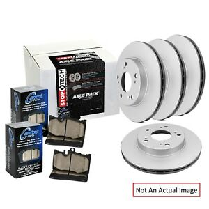 Centric 905.63054 Ceramic Front and Rear Disc Brake Pad and Rotor Kit