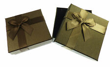 12 NEW Wholesale Ribbon Bow Gift Boxes for Earring Necklace Set - 9x9x3cm