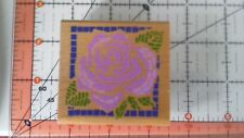 Rubber Stampede Rose Mosaic A850 Rubber Stamp New Scrapbooking Quilt