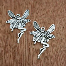 Jewelry Findings,Charms,Pendants,Ancient Silver  Butterfly Fairy 5pcs