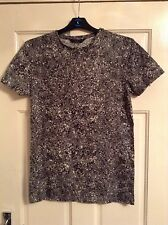 Mens new cedar wood state grey black and white splashed shirt size small