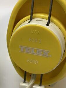 Vintage Telex 610-1 Headset Headphone 600 Ohms
