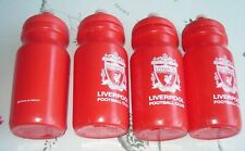 4 Liverpool FC Red Plastic Sports Bottles LFC Official Products ~ New Old Stock