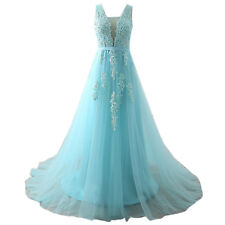 2018 New Long Tulle Prom Dresses Formal Party Evening Ball Gowns Custom Made