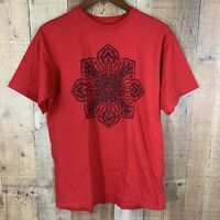 "Obey Mens Graphic Tee Sz M Red Black ""Stop The Violence"""