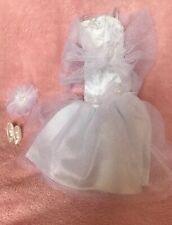 Barbie Bridal Fashion Avenue 1996 Tulle Bow & Lace Wedding Gown Shoes Set #15900