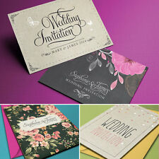 Personalised Wedding Day or Evening Invitations 2 Sided Invites Inc. Envelopes