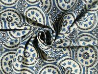 Indian Hand Block Mandala Print Running Loose Cotton Craft Sewing Fabric By Yard